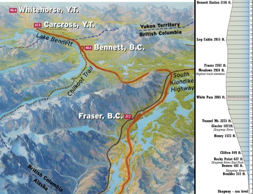 4 white pass yukon route map of the wpampyr part 13 this contemporary map shows sciox Image collections